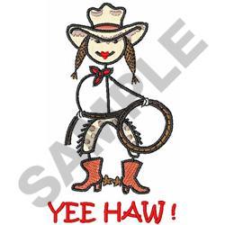 YEE HAW! embroidery design