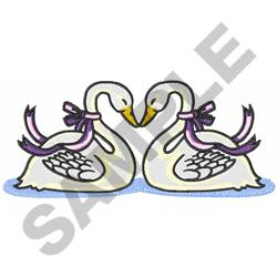 PAIR OF SWANS embroidery design