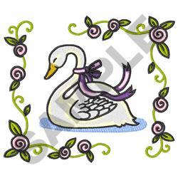 FRAMED SWAN embroidery design