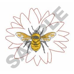 BUMBLE BEE AND FLOWER embroidery design