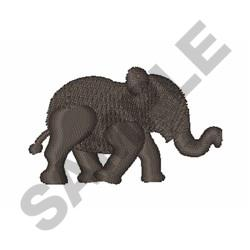 Baby Elephant Silhouette embroidery design