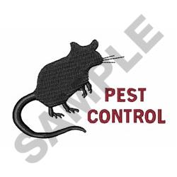 Pest Control Silhouette embroidery design