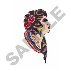 PRETTY SPANISH WOMAN embroidery design