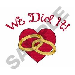 Wedding Day Heart embroidery design