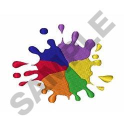 Rainbow Color Splash embroidery design