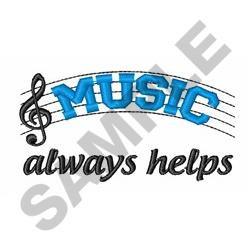 Music Always Helps embroidery design