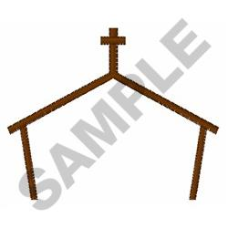 Church Outline embroidery design