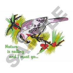 NATURE IS CALLING embroidery design