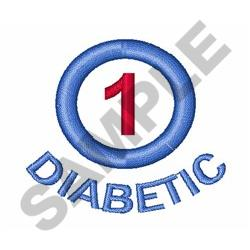 TYPE ONE DIABETIC embroidery design