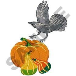 FALL CROW embroidery design