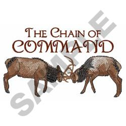 THE CHAIN OF COMMAND embroidery design