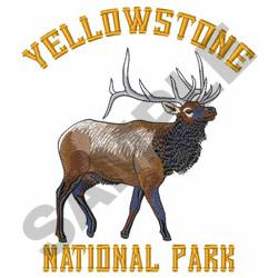 YELLOWSTONE NATIONAL PARK embroidery design