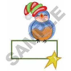 BLUEBIRD GIFT TAG embroidery design