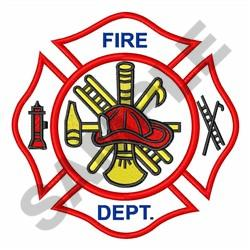 Fire Department Logo embroidery design