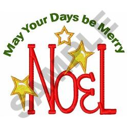 MERRY NOEL embroidery design