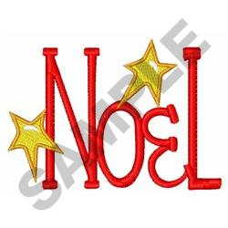 NOEL AND STARS embroidery design