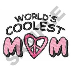 WORLDS COOLEST MOM embroidery design