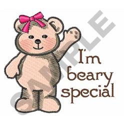IM BEARY SPECIAL embroidery design