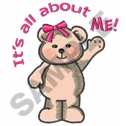 ITS ALL ABOUT ME embroidery design