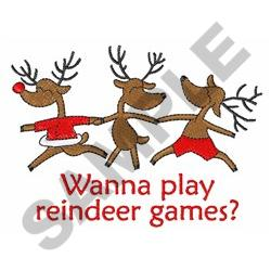 REINDEER GAMES embroidery design