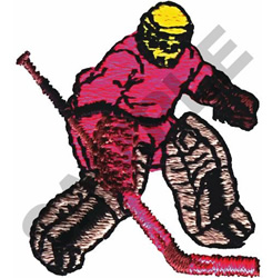 HOCKEY GOALIE embroidery design