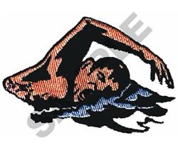 SWIMMER embroidery design
