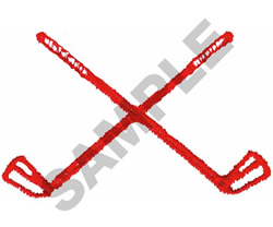 GOLF CLUBS CROSSED embroidery design