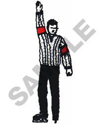 HOCKEY REFEREE embroidery design