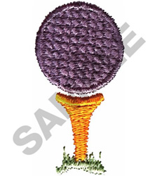 Golf Ball And Tee Embroidery Design
