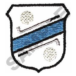 GOLF BADGE embroidery design