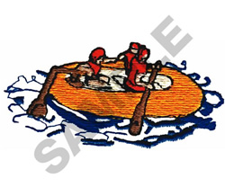 RAFTING embroidery design