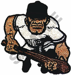 BASEBALL BRUTE embroidery design