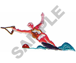 WATERSKIER embroidery design
