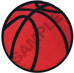BASKETBALL (LARGE) embroidery design