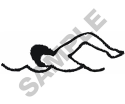 SWIMMER OUTLINE embroidery design