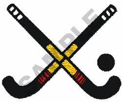 FIELD HOCKEY STICKS embroidery design