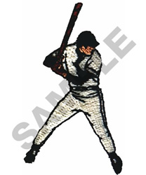 BASEBALL BATTER embroidery design