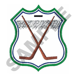 HOCKEY CREST embroidery design