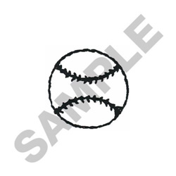 BASEBALL OUTLINE (SMALL) embroidery design
