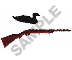 DECOY AND SHOTGUN embroidery design