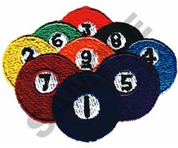 BILLIARD BALLS embroidery design