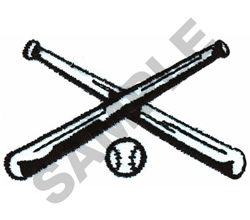 BASEBALL & BATS embroidery design