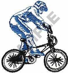 BMX RIDER OUTLINE embroidery design