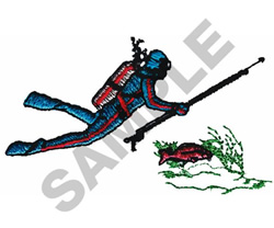 SPEAR FISHERMAN embroidery design