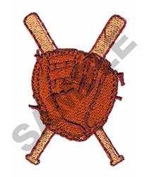 BASEBALL GLOVE & BATS embroidery design