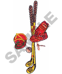 GOLF MONTAGE embroidery design