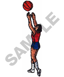 BASKETBALL PLAYER embroidery design