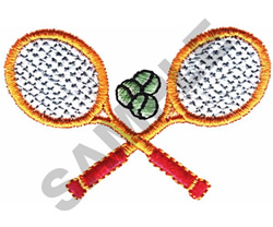 TENNIS RACQUETS AND BALLS embroidery design