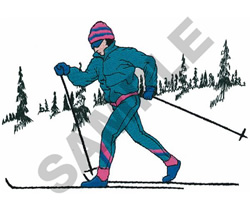 CROSS COUNTRY SKIER embroidery design