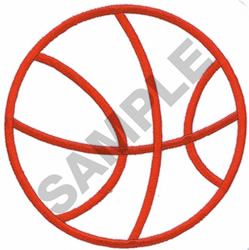 BASKETBALL OUTLINE (LARGE) embroidery design